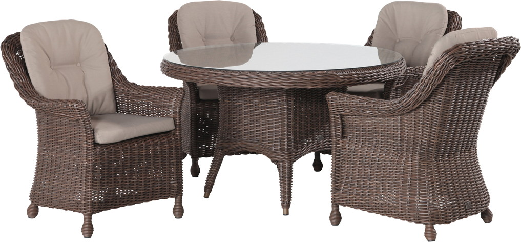 Polyrattan-Outdoor-Sitzgruppe 4Seasons Madoera Dining Sitzgruppe Geflecht