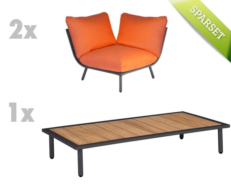 sitzgruppe alexander rose beach flint lounge kissen. Black Bedroom Furniture Sets. Home Design Ideas