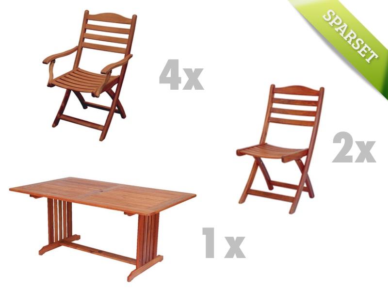 Sitzgruppe Alexander Rose Cornis Gartenmöbelset Holz-Gartenmöbel Set 4
