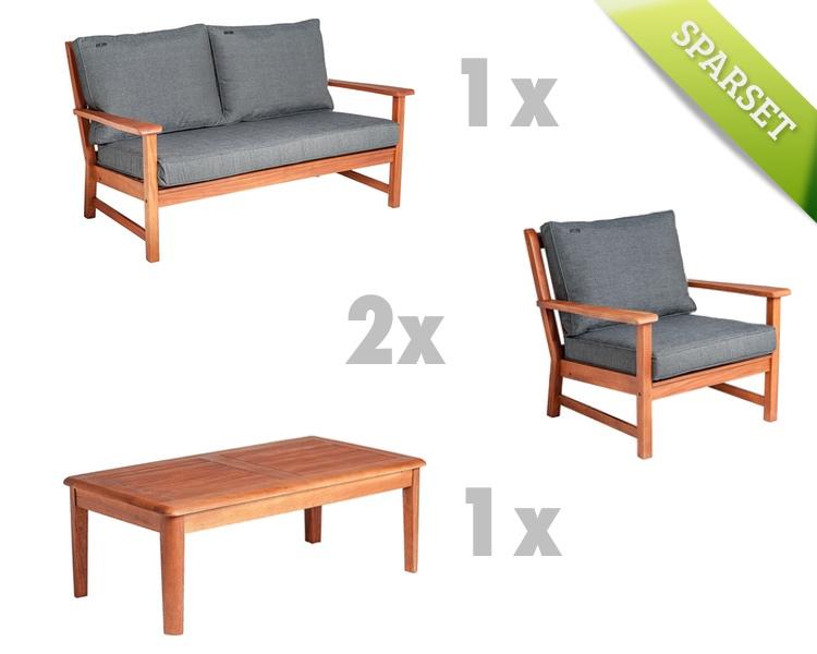 Sitzgruppe Alexander Rose «Cornis Gartenmöbelset» Holz-Loungemöbel ...