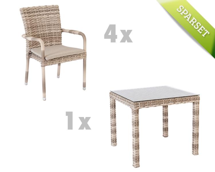 gartenstuhl alexander rose kool pearl stapelsessel. Black Bedroom Furniture Sets. Home Design Ideas