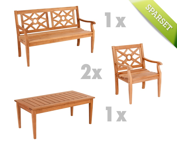 Sitzgruppe Alexander Rose «Mahagoni» Gartenmöbel Set 1 | Garten-BLOG ...