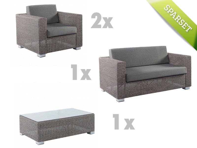Sitzgruppe Alexander Rose MONTE CARLO Lounge Gartenmöbel Korbset 1