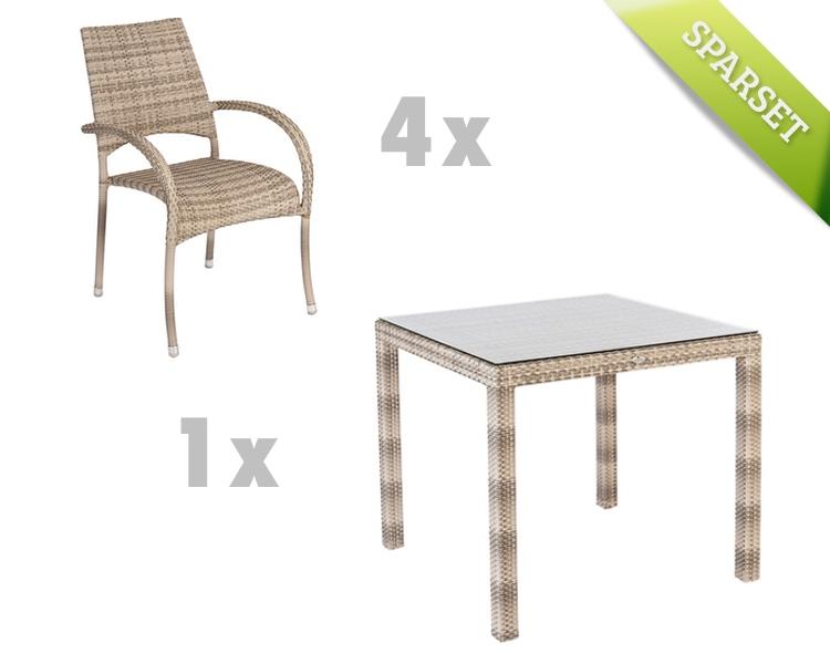 sitzgruppe alexander rose ocean pearl gartenm bel set 3. Black Bedroom Furniture Sets. Home Design Ideas