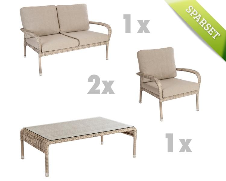 sitzgruppe alexander rose ocean pearl gartenm bel lounge set 7 korbm bel vom garten fachh ndler. Black Bedroom Furniture Sets. Home Design Ideas