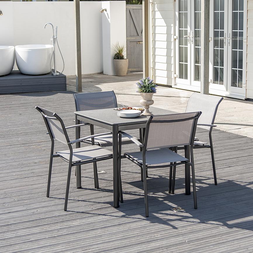 gartentisch alexander rose portofino lite 80x80 aluminiumtisch steinoptik gartenm bel. Black Bedroom Furniture Sets. Home Design Ideas