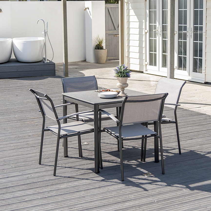 gartentisch alexander rose portofino lite 80x80. Black Bedroom Furniture Sets. Home Design Ideas