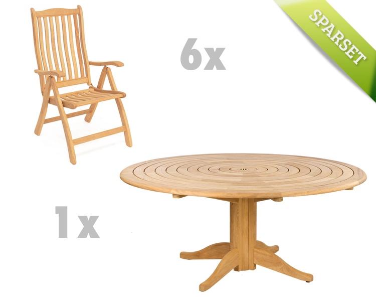 Sitzgruppe Alexander Rose Roble Gartenmöbel Set 1 Holzmöbel