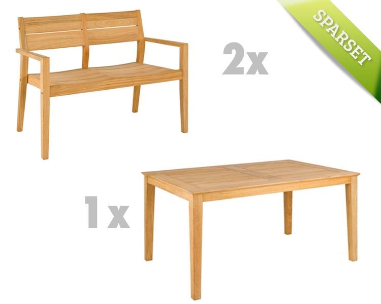 Sitzgruppe Alexander Rose Roble Gartenmöbel Set 7 Holzmöbel