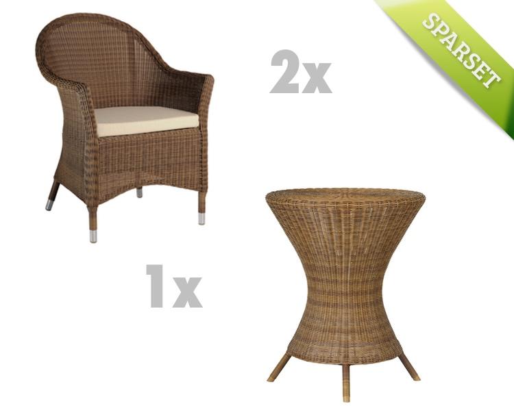 Sitzgruppe Alexander Rose San Marino Gartenmöbel Set 1 Korbmöbel