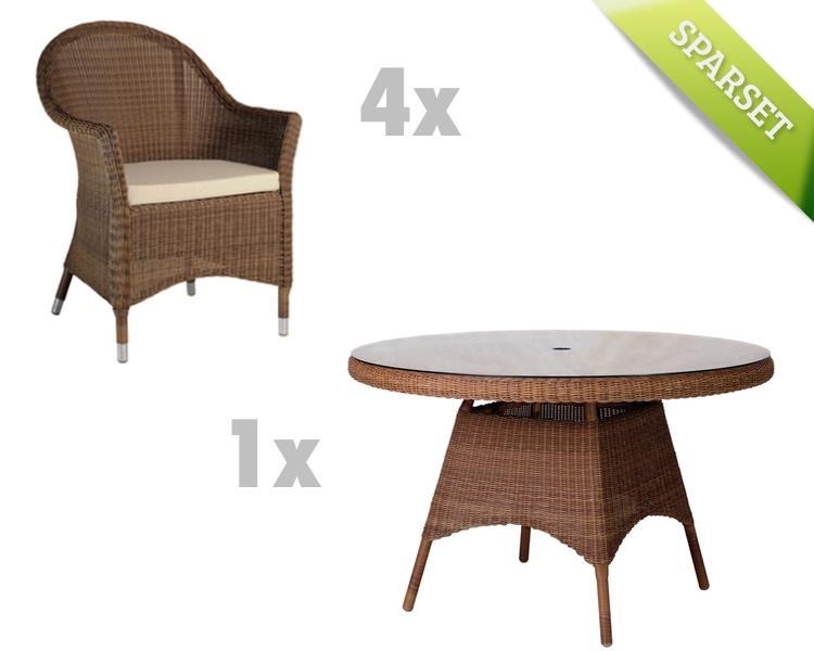 Sitzgruppe Alexander Rose San Marino Gartenmöbel Set 2 Korbmöbel