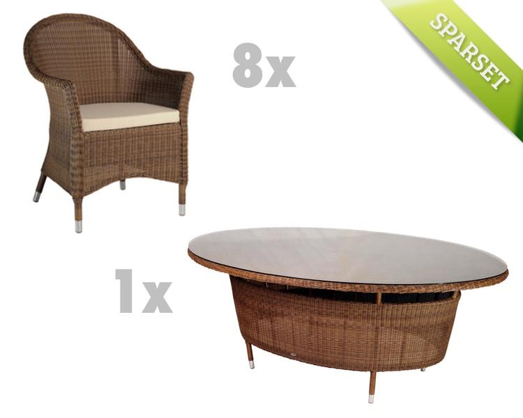 Sitzgruppe Alexander Rose San Marino Gartenmöbel Set 4 Korbmöbel