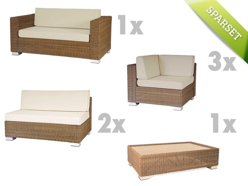 Sitzgruppe Alexander Rose SAN MARINO Lounge-Gartenmöbelset Set 2 Korbgruppe
