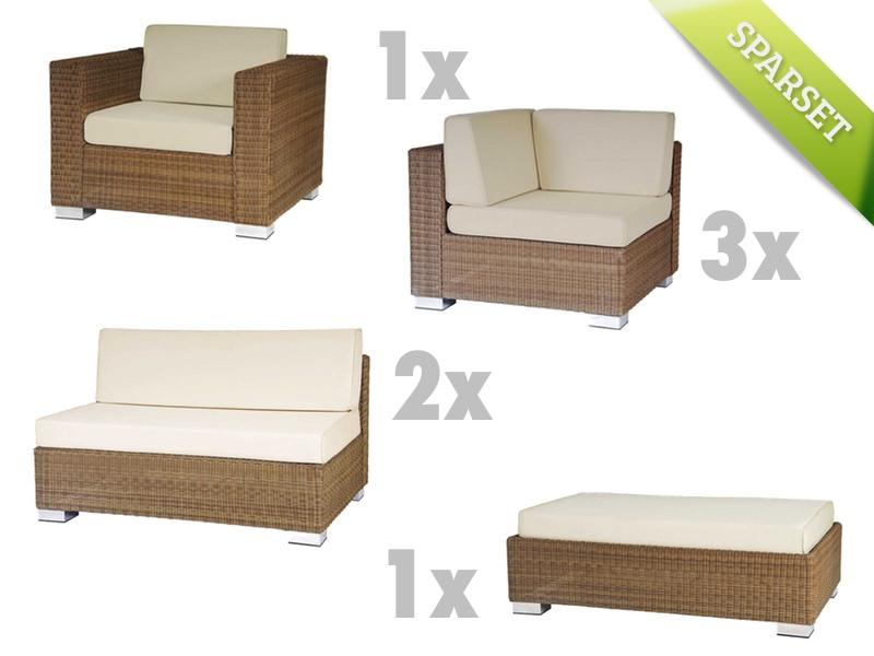 Sitzgruppe Alexander Rose SAN MARINO Lounge-Gartenmöbelset Set 1 Korbgruppe