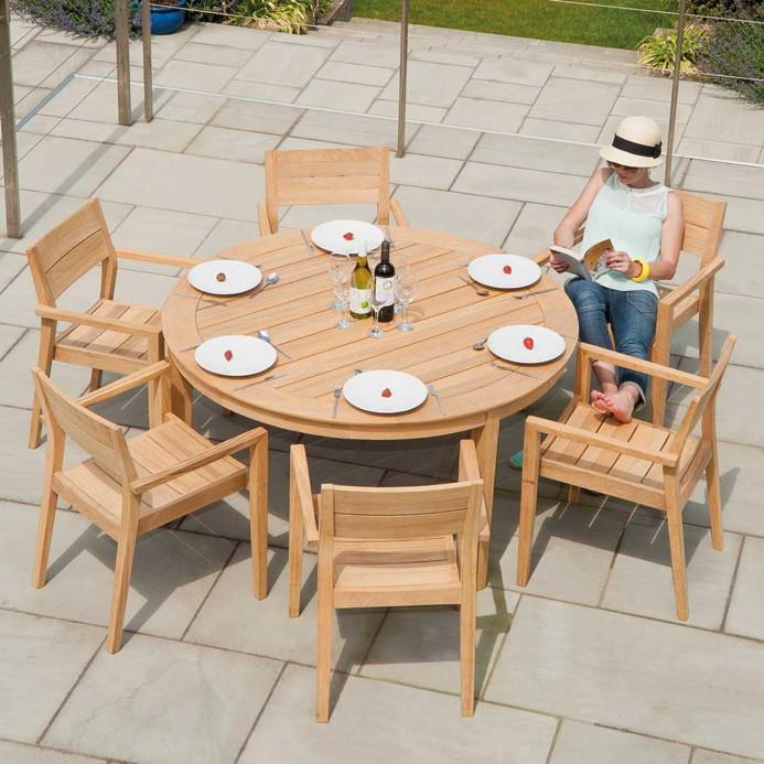 Gartentisch Rund Holz Affordable Affordable With Gartentisch Wei