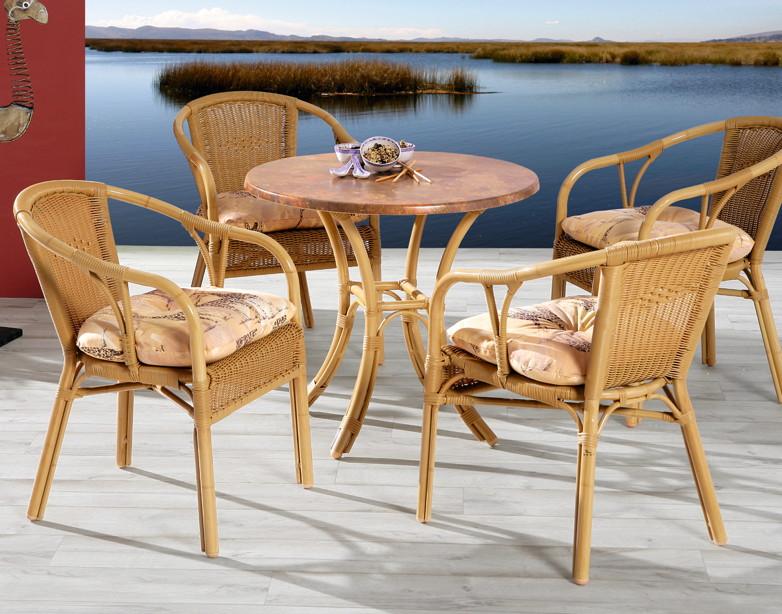 Gartentisch best bambus esstisch aluminiumtisch in for Kleine esstisch gruppe