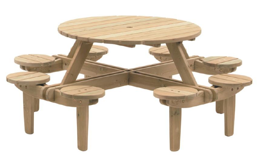 Biertisch rund Alexander Rose PINIE GLENEAGLES runder Picknicktisch Holztisch