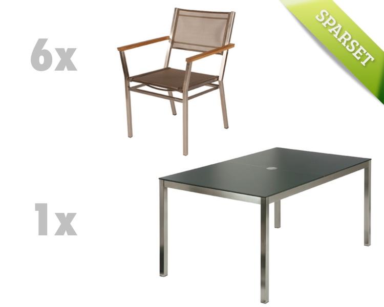 Sitzgruppe barlow tyrie equinox dining set 2 titanium for Gartenmobel dining set