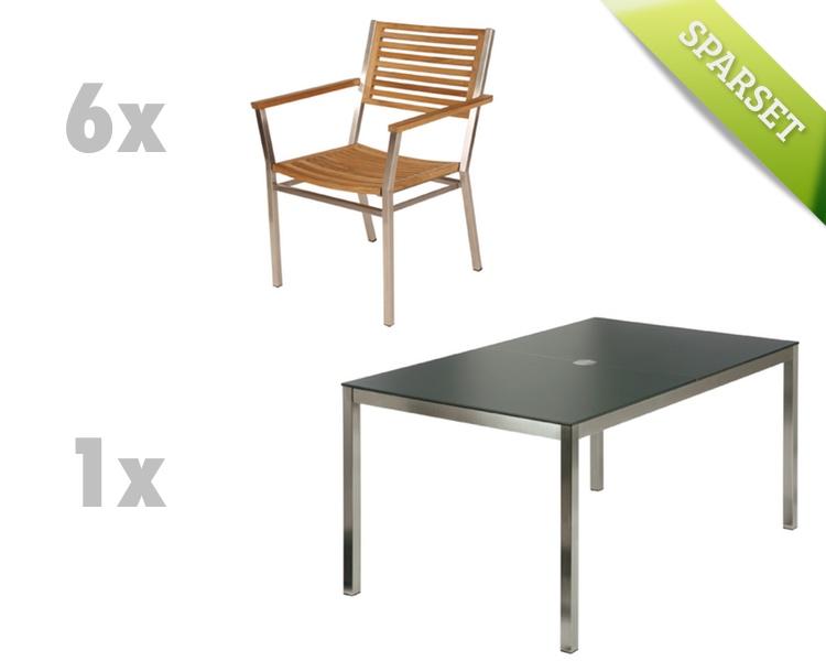 Sitzgruppe Barlow Tyrie Equinox Dining Set 2 Teak Gartenmöbel Set