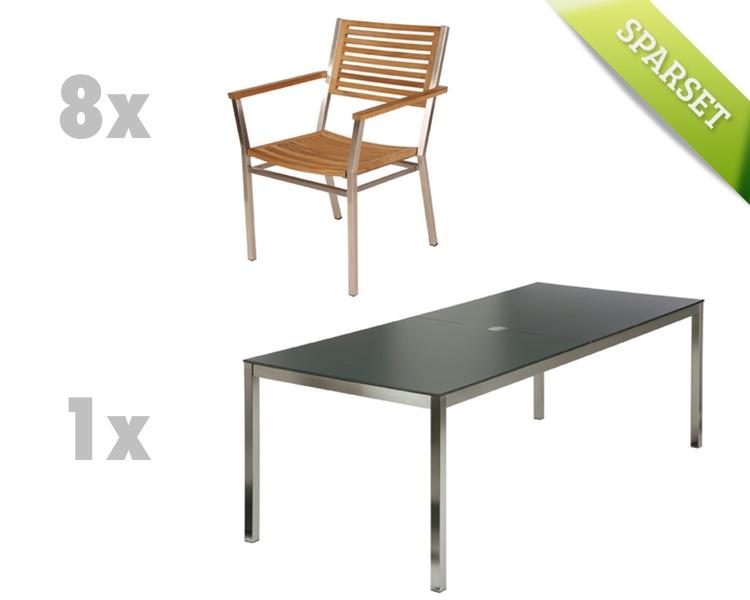 Sitzgruppe Barlow Tyrie Equinox Dining Set 3 Teak Gartenmöbel Set