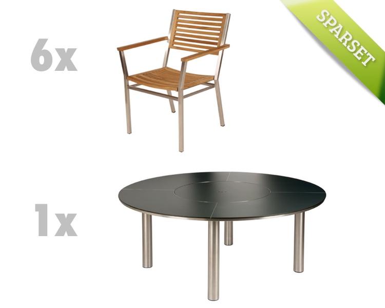 Sitzgruppe Barlow Tyrie Equinox Dining Set 4 Teak Gartenmöbel Set