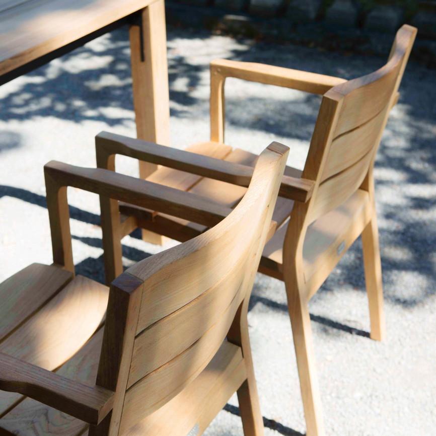 gartenstuhl fischer june stapelsessel teakholz. Black Bedroom Furniture Sets. Home Design Ideas