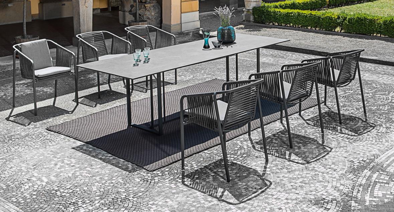 Sitzgruppe FISCHER «Suite Gartenmöbel Set 1» Edelstahl
