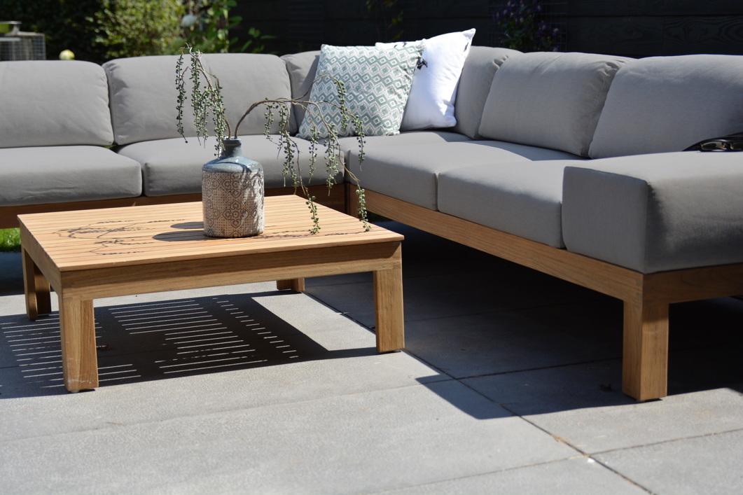 gartentisch 4seasons mistral teak couchtisch 90x90cm. Black Bedroom Furniture Sets. Home Design Ideas