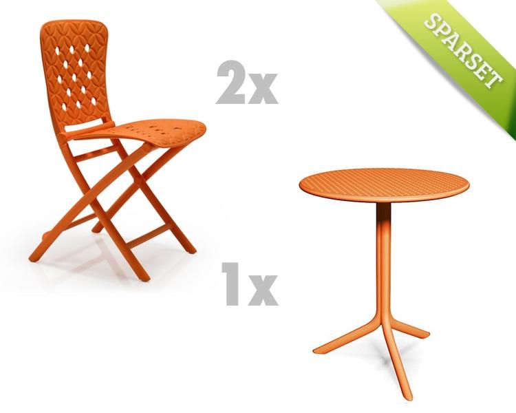 Gartenmöbel Set NARDI Spring-Step orange Set 4 Sitzgruppe Balkonmöbel