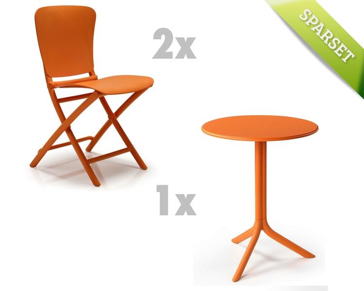 Gartenmöbel Set NARDI Zac-Spritz orange Set 3 Sitzgruppe Balkonmöbel