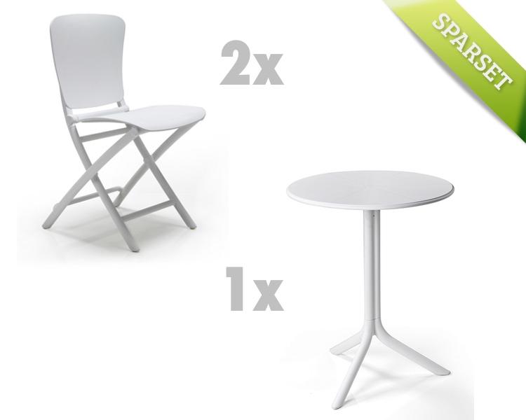 Balkonmöbel set weiß  Gartenmöbel Set NARDI «Zac-Spritz weiss Set 1» Sitzgruppe ...