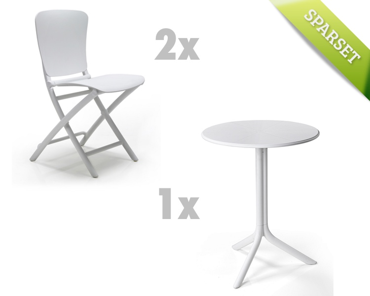 Gartenmöbel Set NARDI Zac-Spritz weiss Set 1 Sitzgruppe Balkonmöbel