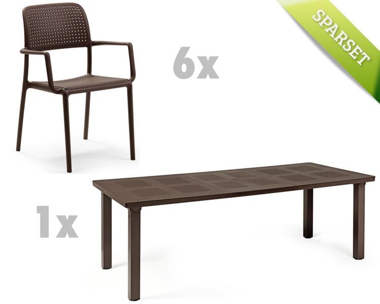 gartentisch nardi levante 160x100 caff esstisch. Black Bedroom Furniture Sets. Home Design Ideas