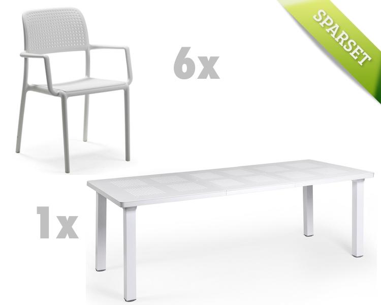Gartenmöbel Set NARDI «Bora Levante weiß Set 1» Sitzgruppe ...
