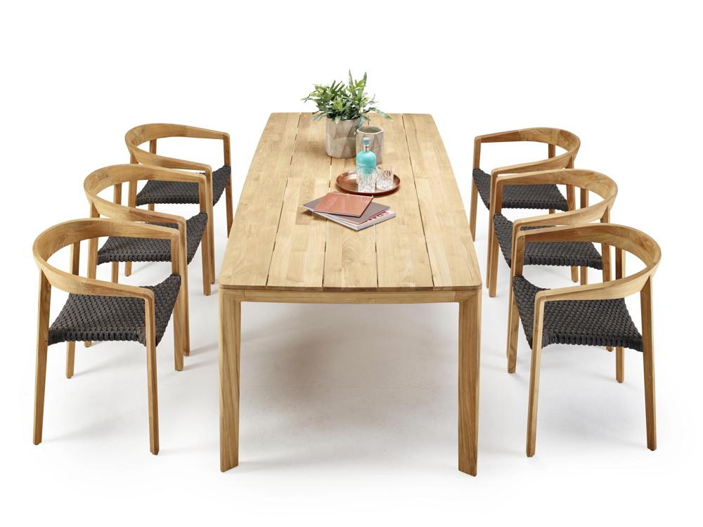 Gartentisch solpuri lodge esstisch 220x100 teakholz for Esstisch viereckig