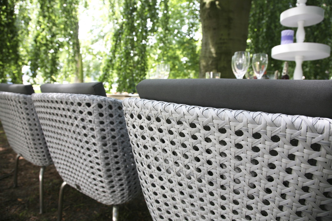 Luxus Polyrattan-Geflecht Gartenstuhl «Luton» Sessel Geflechtmöbel ...