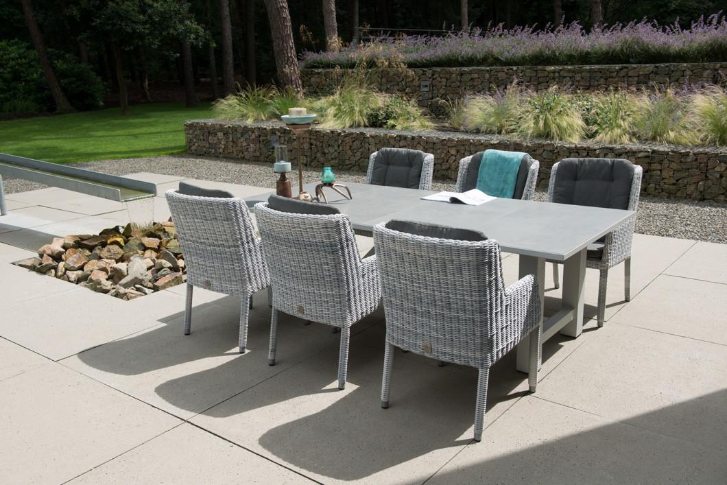 Gartenstuhl 4Seasons «Amalfi ice» Dining-Sessel Polyrattan inklusive ...