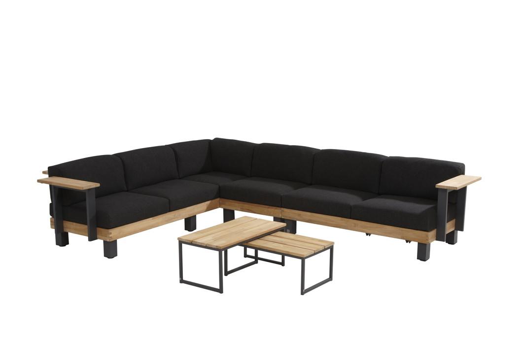 Sitzgruppe 4Seasons Cordoba Lounge-Set 2, Gartenmöbelset, Teak mit Kissen