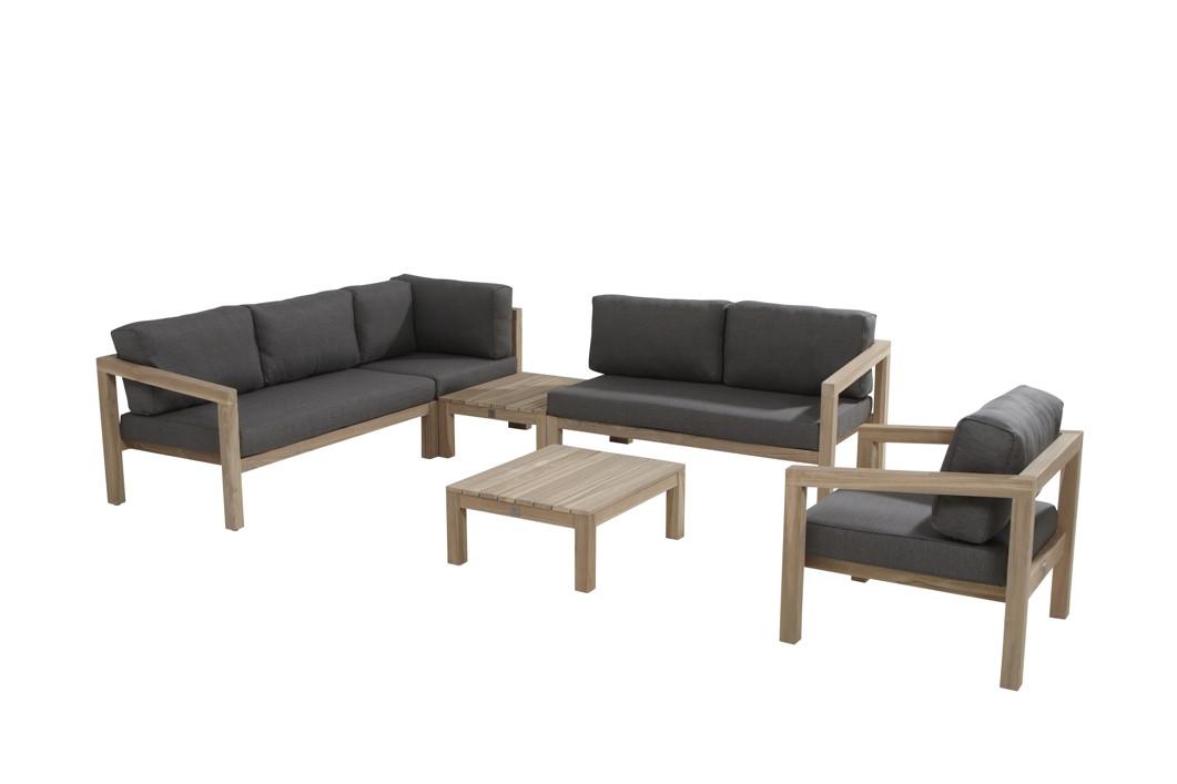 Gartenmöbel Set Holz Lounge ~ Sitzgruppe seasons «evora gartenmöbelset lounge teakholz
