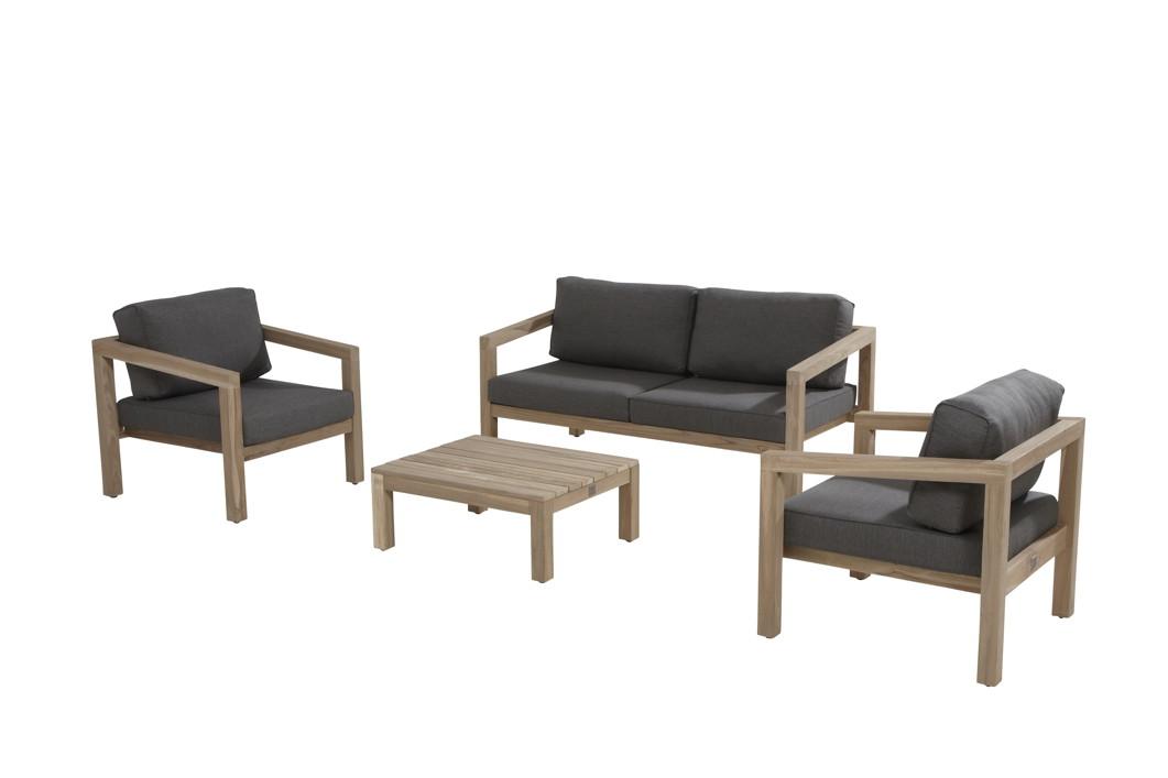 Sitzgruppe 4Seasons EVORA Gartenmöbelset, Lounge Teakholz Set 2