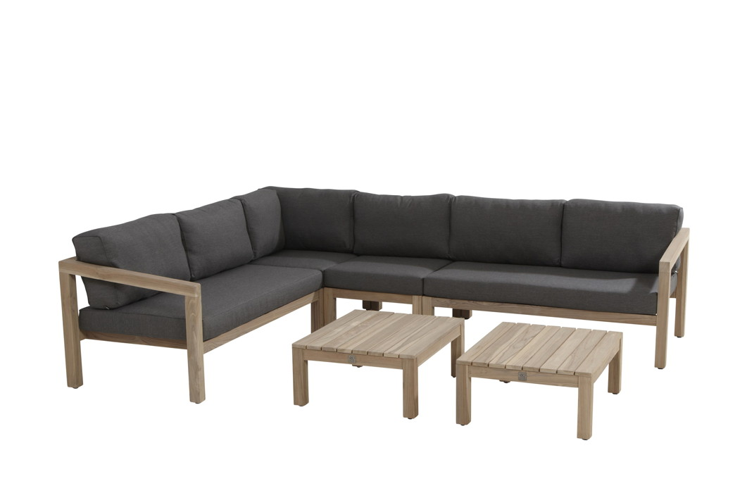 Sitzgruppe 4Seasons EVORA Gartenmöbelset, Lounge Teakholz Set 3