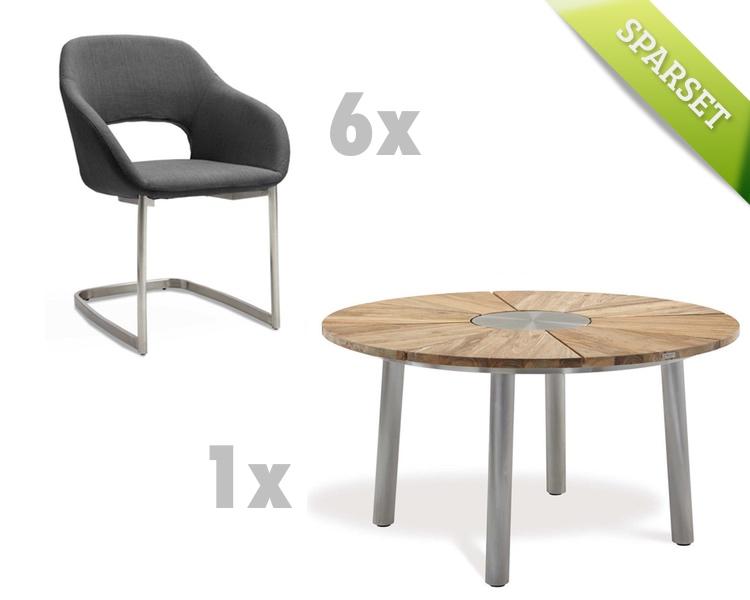 sitzgruppe niehoff nexor nizza freischwinger anthrazit gartenm ebel set 5 gartenm bel fachhandel. Black Bedroom Furniture Sets. Home Design Ideas