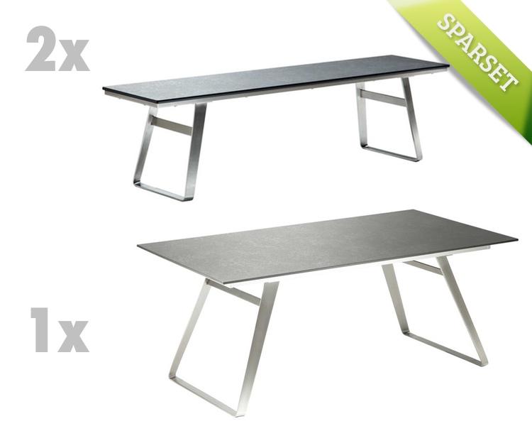 gartentisch niehoff ninon esstisch 200x95 hpl beton design gartenm bel fachhandel. Black Bedroom Furniture Sets. Home Design Ideas
