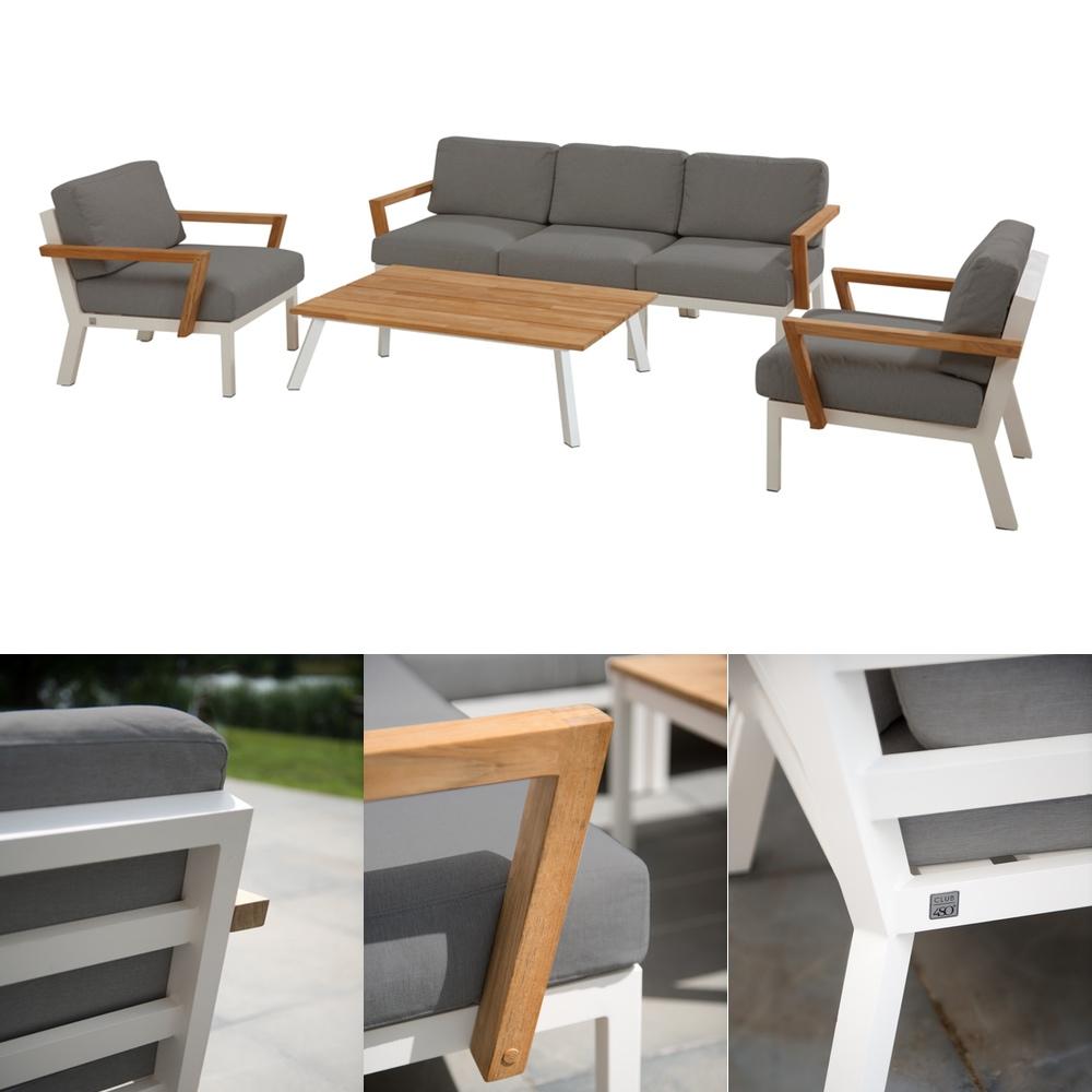 Sitzgruppe 4Seasons Byron Gartenmöbel Set 1, Lounge inkl. Kissen