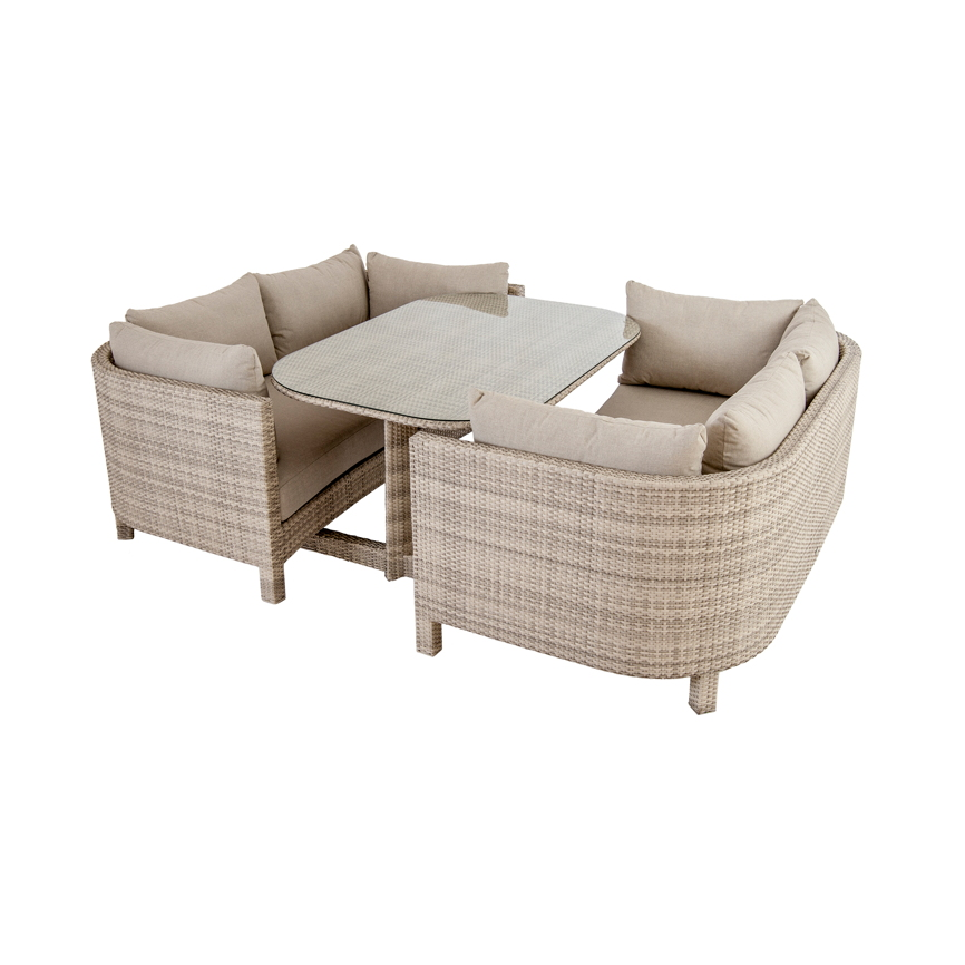 sitzgruppe alexander rose ocean pearl korbsessel set mit tisch rattan vom garten fachh ndler. Black Bedroom Furniture Sets. Home Design Ideas