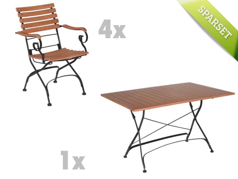 Gartenm�bel-Set MBM BRAZIL Sitzgruppe Biergarten-Garnitur SET 1 Holzm�bel