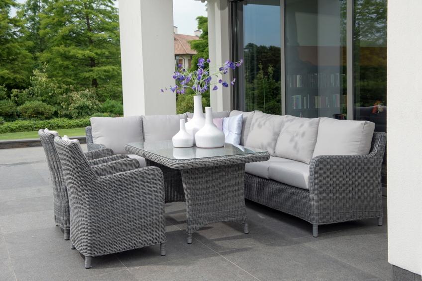 gartenbank indigo rock 3 sitzer sofa geflecht premium inkl kissen 4 seasons gartenm bel. Black Bedroom Furniture Sets. Home Design Ideas