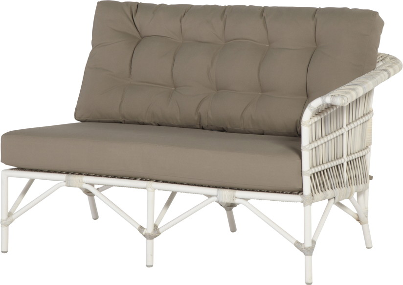 Gartenmobel Outlet Bornheim :  2er Sofa, Armlehne links, Rattan, Geflecht  Gartenmöbel Fachhandel