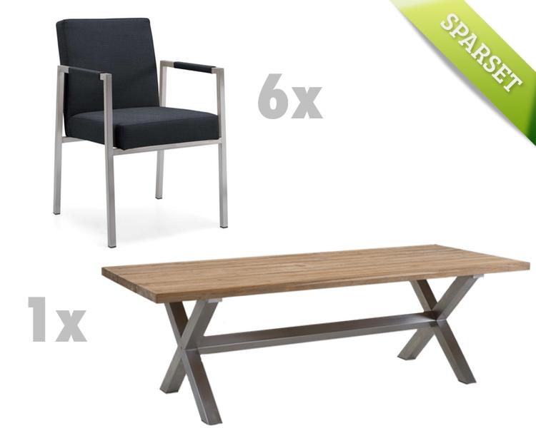 sitzgruppe niehoff nona ned gartenm bel set 1 anthrazit. Black Bedroom Furniture Sets. Home Design Ideas