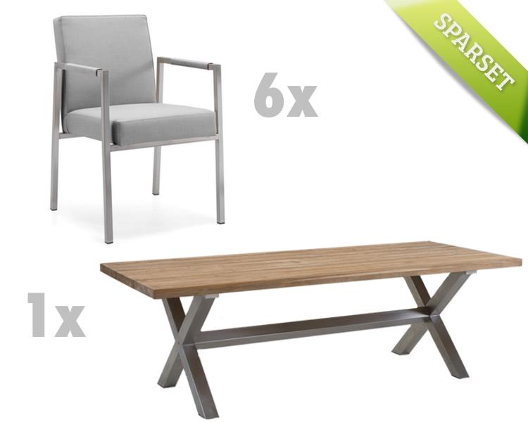 Sitzgruppe NIEHOFF «NONA NED Gartenmöbel-Set 4 grau» | Gartenmöbel ...